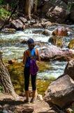 Активный hiker женщины Стоковые Фото