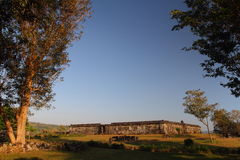 Актовый зал замока Ratu Boko стоковое фото rf