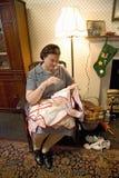 Актриса женщины Второй Мировой Войны Стоковое Изображение RF