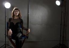 Актриса с Copyspace Стоковое Изображение