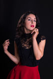 Актриса hollywood год сбора винограда Стоковое фото RF