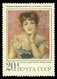 Актриса Jeanne Samary Renoir стоковые фото