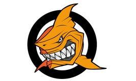 Акула баскетбола иллюстрация вектора