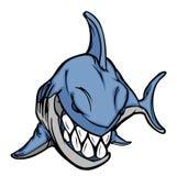акула талисмана логоса Стоковое фото RF
