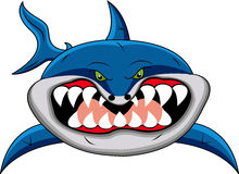 акула шаржа смешная Стоковое Фото