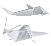 акула origami кузнечика Стоковые Фото