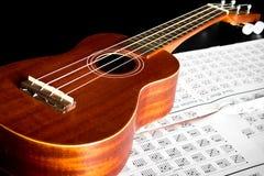 Акустическая гитара Гаваи гавайской гитары Стоковые Фото