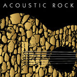 акустическая гитара предпосылки Стоковая Фотография