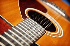 Акустическая гитара 12 строк Стоковые Изображения RF