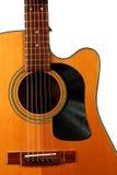 Акустическая гитара с показателем винила для предохранителя выбора Стоковые Фото