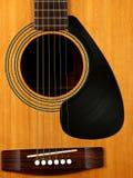 Акустическая гитара с показателем винила для предохранителя выбора Стоковая Фотография