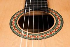 Акустическая гитара с строками нейлона Стоковая Фотография RF