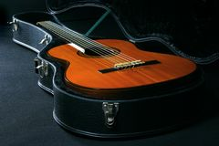 Акустическая гитара стоковое изображение rf