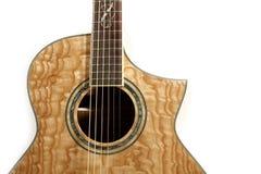 акустическая изолированная гитара Стоковые Фото