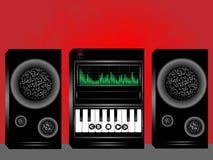 акустическая система мюзикл центра иллюстрация вектора