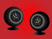 акустическая система сфер формы иллюстрация штока