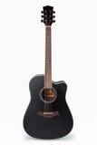акустическая черная гитара Стоковое Изображение RF