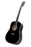 акустическая черная гитара Стоковая Фотография RF