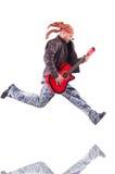 акустический гитарист гитары деталей вручает instrumant музыкальный играть игрока совершителя Стоковая Фотография