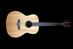 акустический макрос гитары конца черноты предпосылки вверх Стоковое Изображение RF