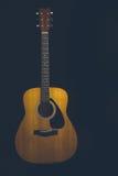 акустический макрос гитары конца черноты предпосылки вверх Стоковое Фото