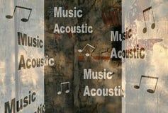 акустическое нот Стоковая Фотография RF