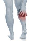 Акутовая боль в икре человека Стоковые Фотографии RF