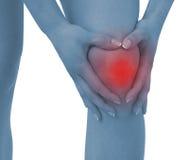 акутовая женщина боли колена стоковые фотографии rf