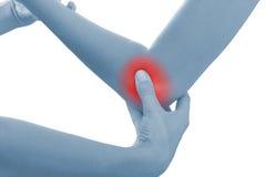 акутовая женщина боли локтя Стоковое Изображение RF