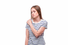 акутовая женщина боли локтя Стоковая Фотография RF