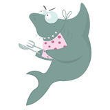 Акула ждет обедающий Стоковые Изображения