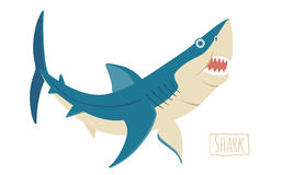 Акула, иллюстрация шаржа вектора Стоковое Фото