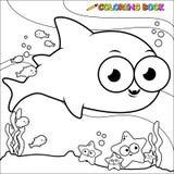 Акула книжка-раскраски подводная Стоковое Фото