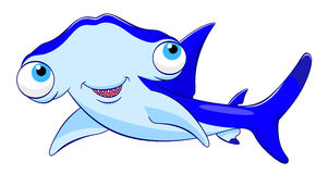 Акула молота шаржа Стоковое Изображение RF
