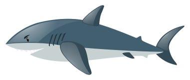 Акула на белой предпосылке иллюстрация вектора