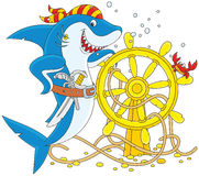 Акула пирата иллюстрация вектора