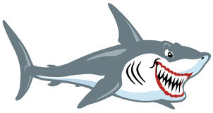 Акула шаржа Стоковые Изображения