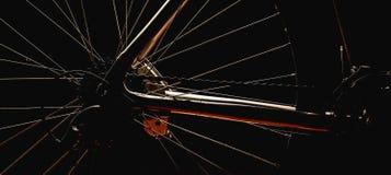 Акцентированные формы велосипеда стоковое изображение
