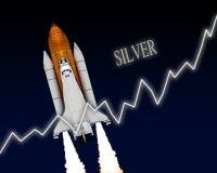 Акционерная биржа запаса серебра Стоковое Изображение