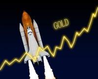 Акционерная биржа золотого запаса Стоковые Фото