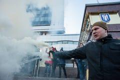 Акция протеста под судом Kyiv appel Стоковая Фотография