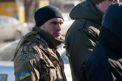 Акция протеста под судом Kyiv appel Стоковое Изображение RF
