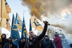 Акция протеста под судом Kyiv appel Стоковые Фото