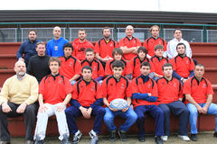 албанская рожденная команда рэгби s Италии национальная Стоковое фото RF