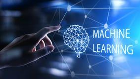 Алгоритмы обучения машины глубокие и искусственный интеллект AI r бесплатная иллюстрация