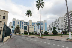 АЛЖИР, АЛЖИР - 24-ОЕ СЕНТЯБРЯ 2016: Национальный институт музыки Алжира Располагаются институт близко старым городом Casbah стоковые фото