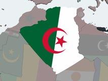 Алжир с флагом на глобусе бесплатная иллюстрация
