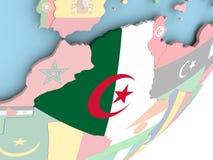 Алжир с флагом бесплатная иллюстрация