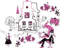 Алиса в иллюстрации вектора страны чудес Стоковые Фото