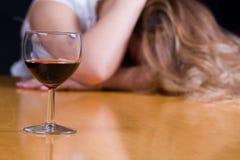 алкоголичка Стоковое Изображение RF